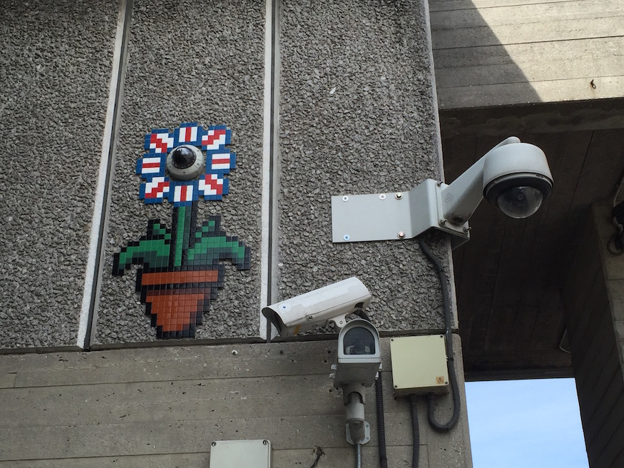 New Invader Street Art Spotted Around London