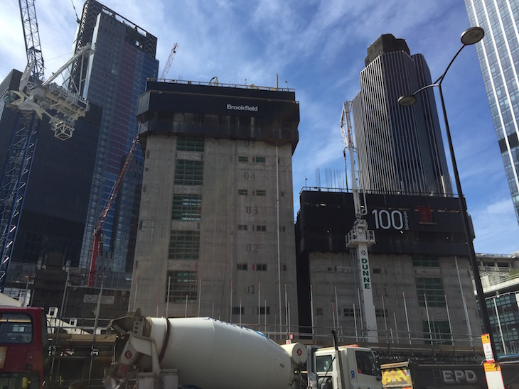 The growing core of 100 Bishopsgate.
