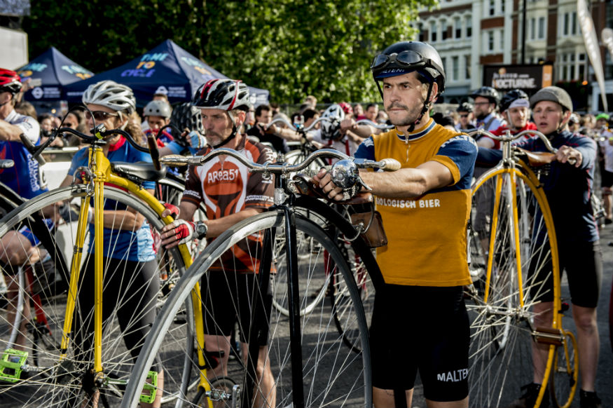 Bonkers Bikes And Champion Cyclists Compete In Free Bike Race