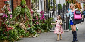 Animals Made From Flowers Appear Across Chelsea
