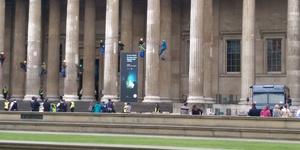 British Museum Evacuated As Protestors Climb Columns
