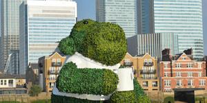 Big Green Monkey Floats Down The Thames