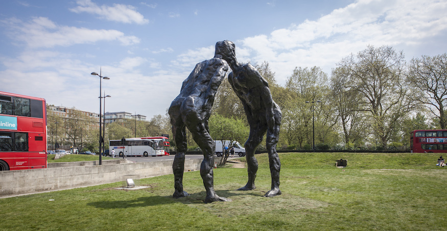 Two Giants Arrive At Marble Arch