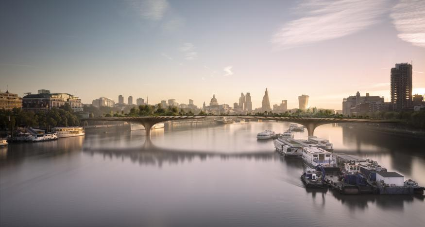 Garden Bridge Work Paused By Sadiq