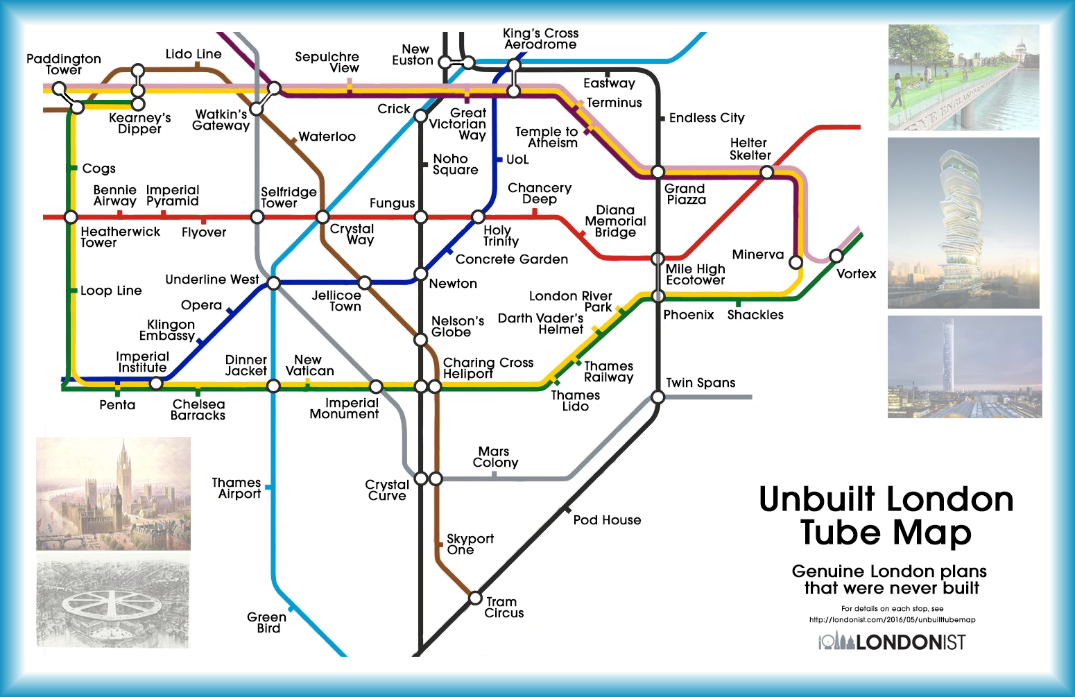 a tube map of the london that never was