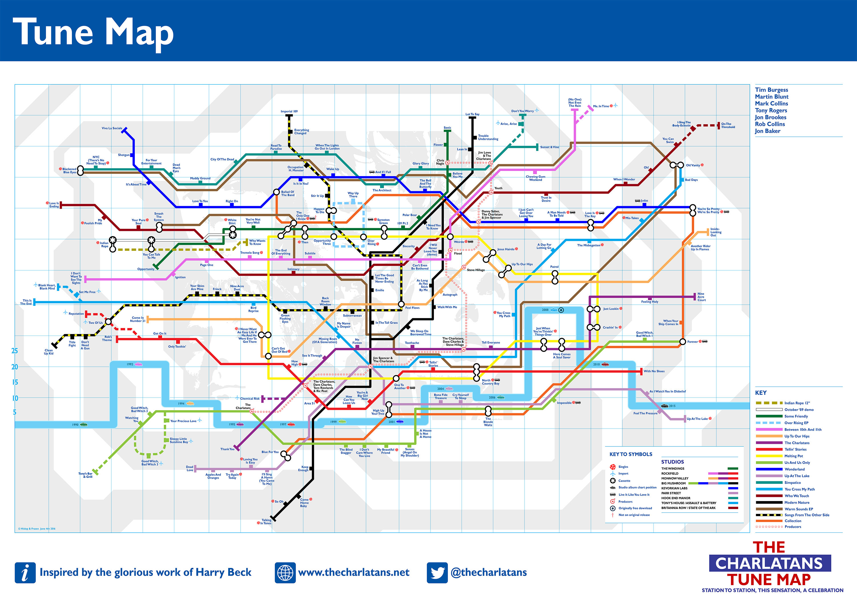 A Rock Star Is Handing Out Limited Edition Tube Maps Tomorrow ...