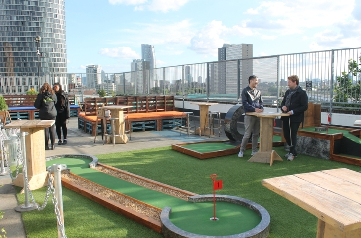 We Played Crazy Golf On A Roof In Stratford