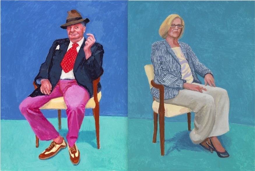 Hockney should stick to landscapes: his portraits are awful ->