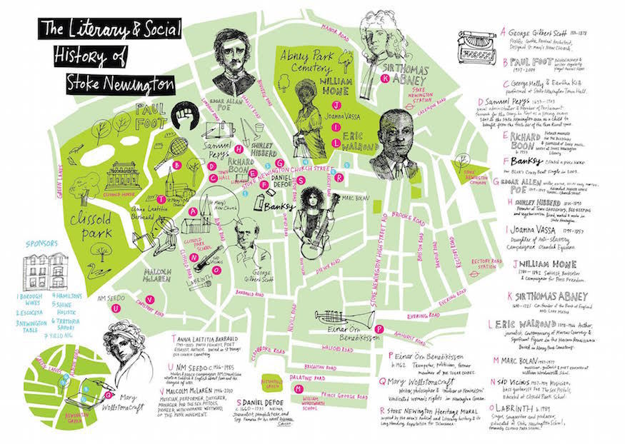 New Stokie Map Reveals Area's Links With Pepys, Banksy And Wollstonecraft