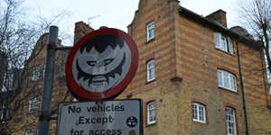 London's Defaced Road Signs