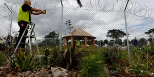 The Garden With Barbed Wire Borders