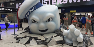 Ghostbusters Invade Waterloo Station