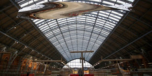 Huge Sculpture Dangles From St Pancras Station Roof