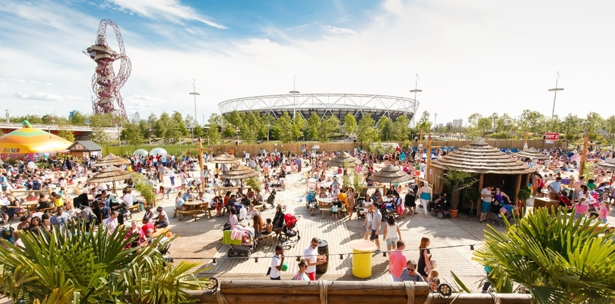 Chill Out At Queen Elizabeth Olympic Park's Own Beach