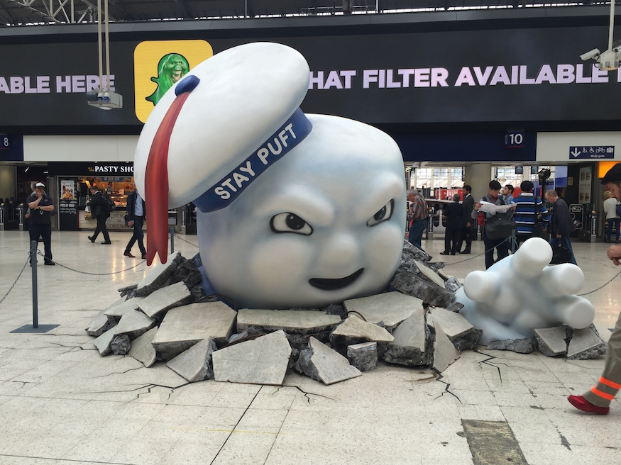 Waterloo Station Gets Slimed