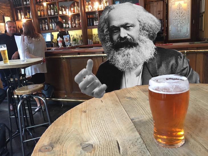 Karl Marx's Tottenham Court Road Pub Crawl