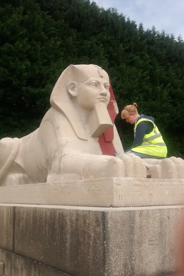 Crystal Palace Sphinxes Receive A Stunning Paint Job