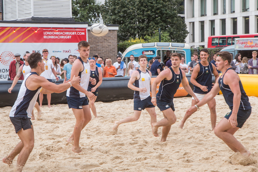In photos - the Beach Rugby: