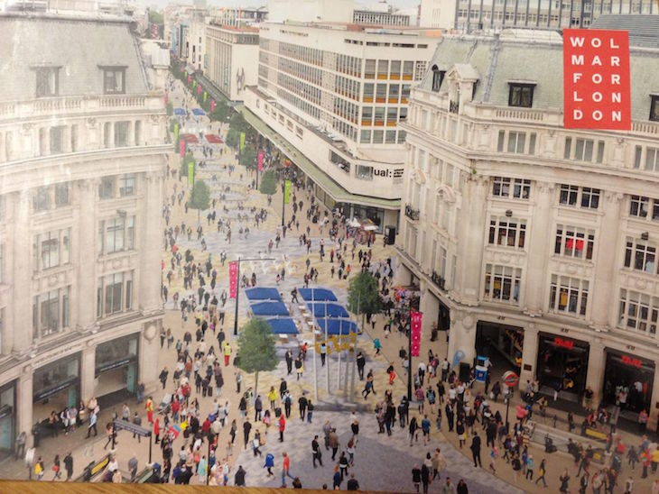 Is this the end of the diagonal pedestrian crossing at Oxford Circus?