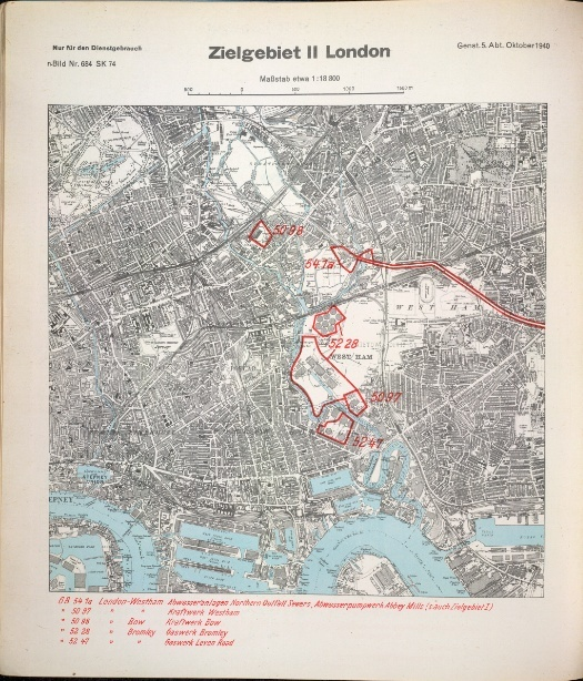 A Luftwaffe Map Of London Londonist