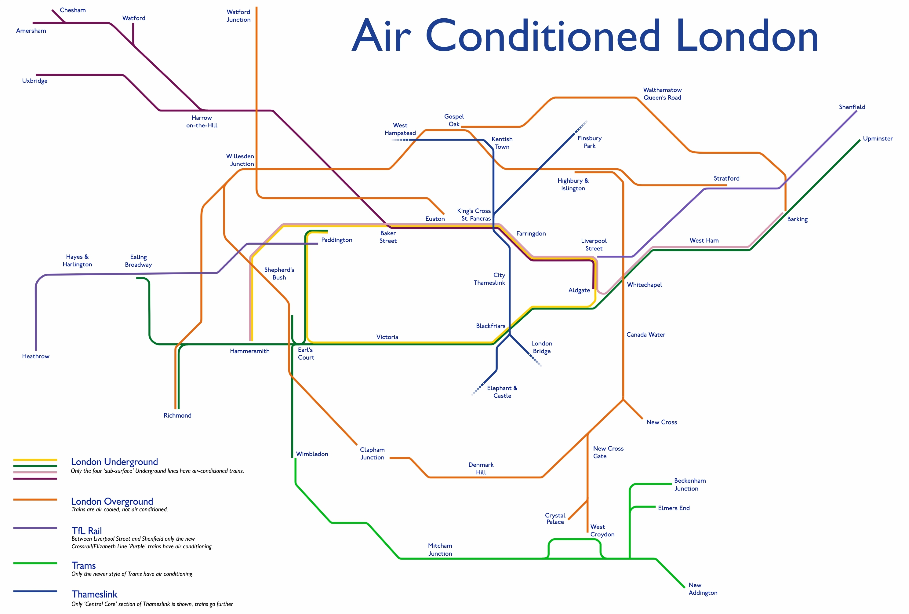 This Tube Map Shows Which Lines Are Air-Conditioned | Londonist