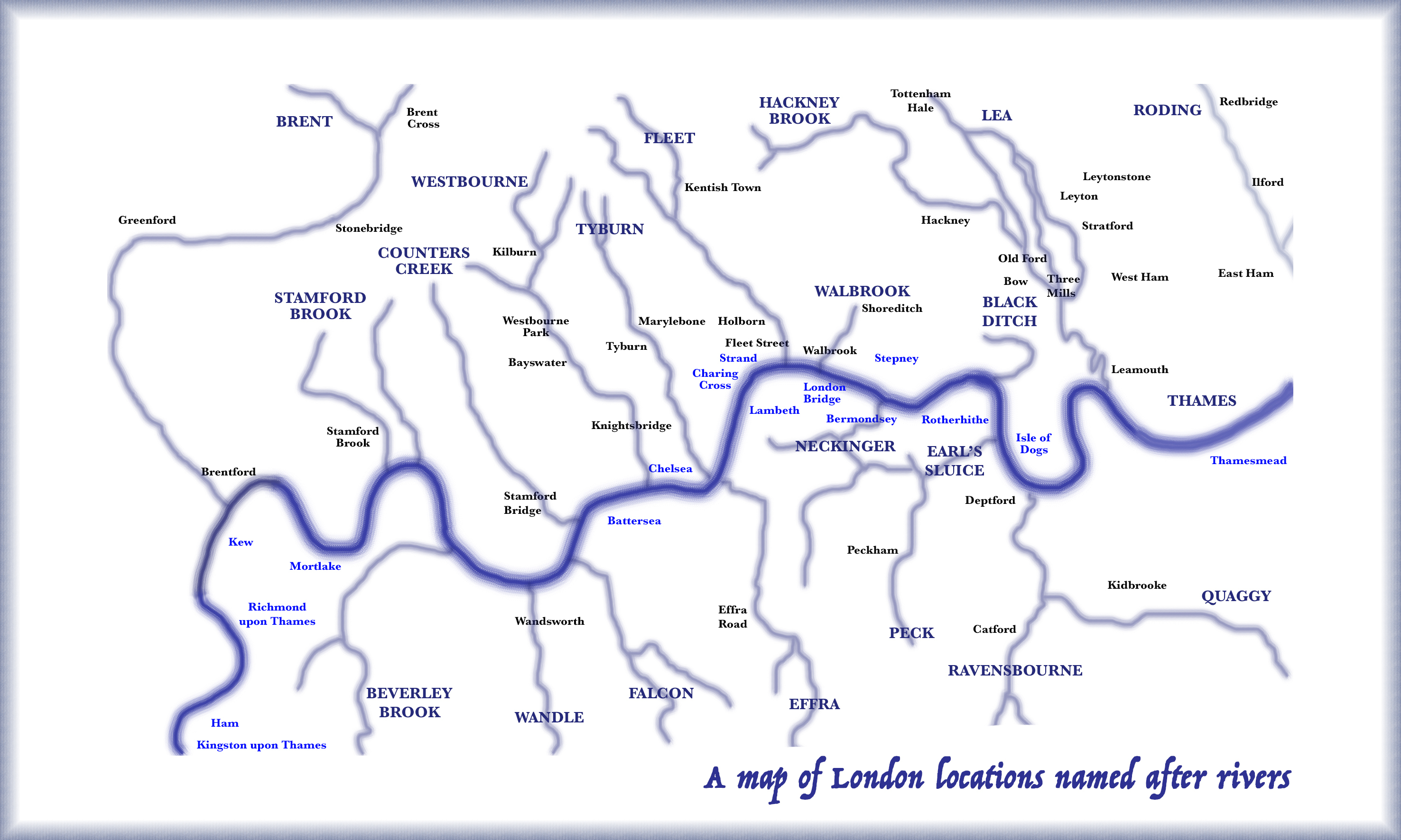 Rivers Subway Map.London S Lost Rivers Mapped With The Place Names They Inspired
