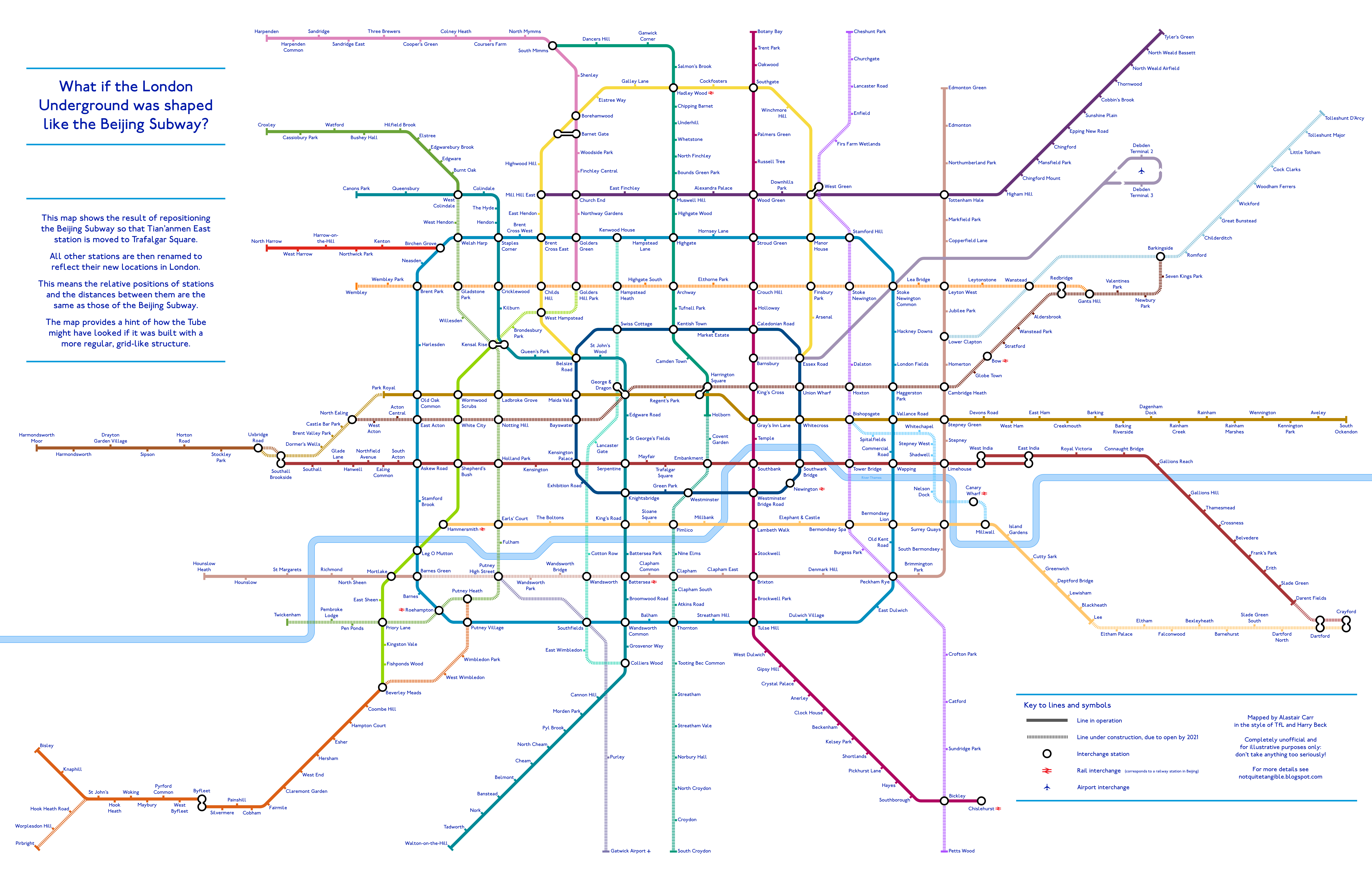 A Tube Map Based On The Beijing Subway Londonist