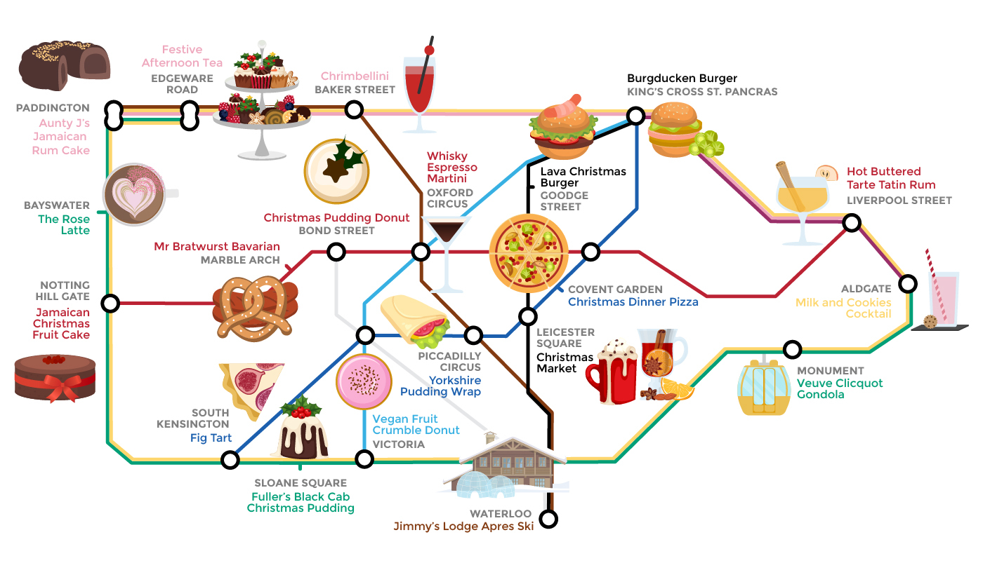Marble Arch London Map.Alternative Tube Map Quirky Christmas Food Londonist