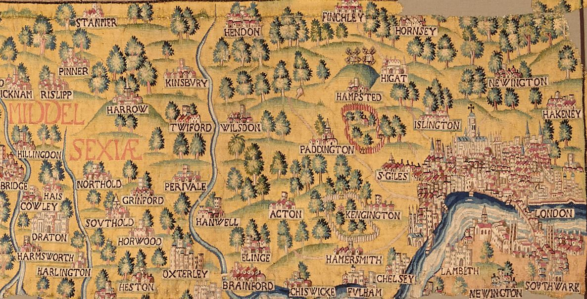 Go See This Incredible Elizabethan Tapestry Map Of London