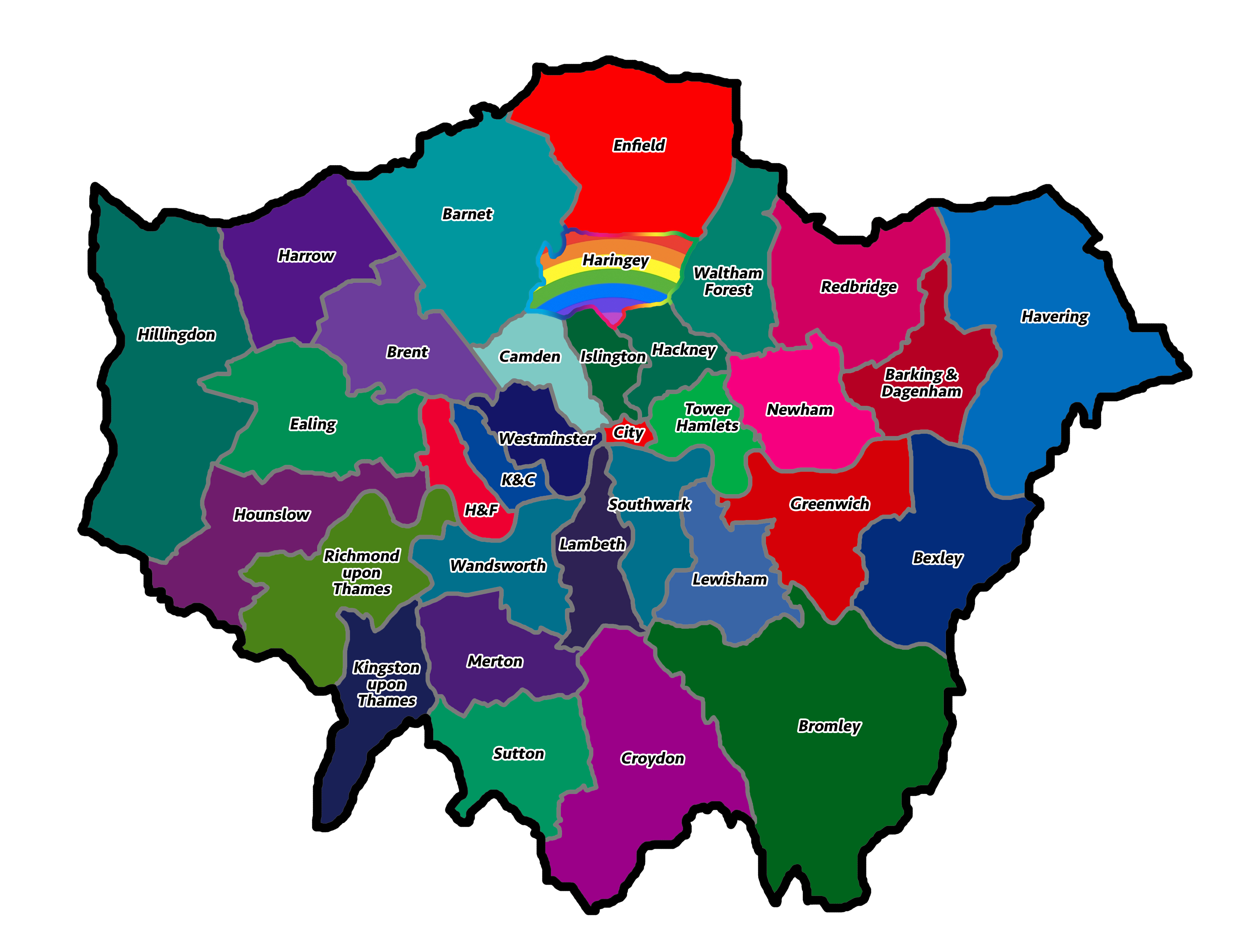 Map Of London Boroughs What Colour Is Your London Borough? | Londonist