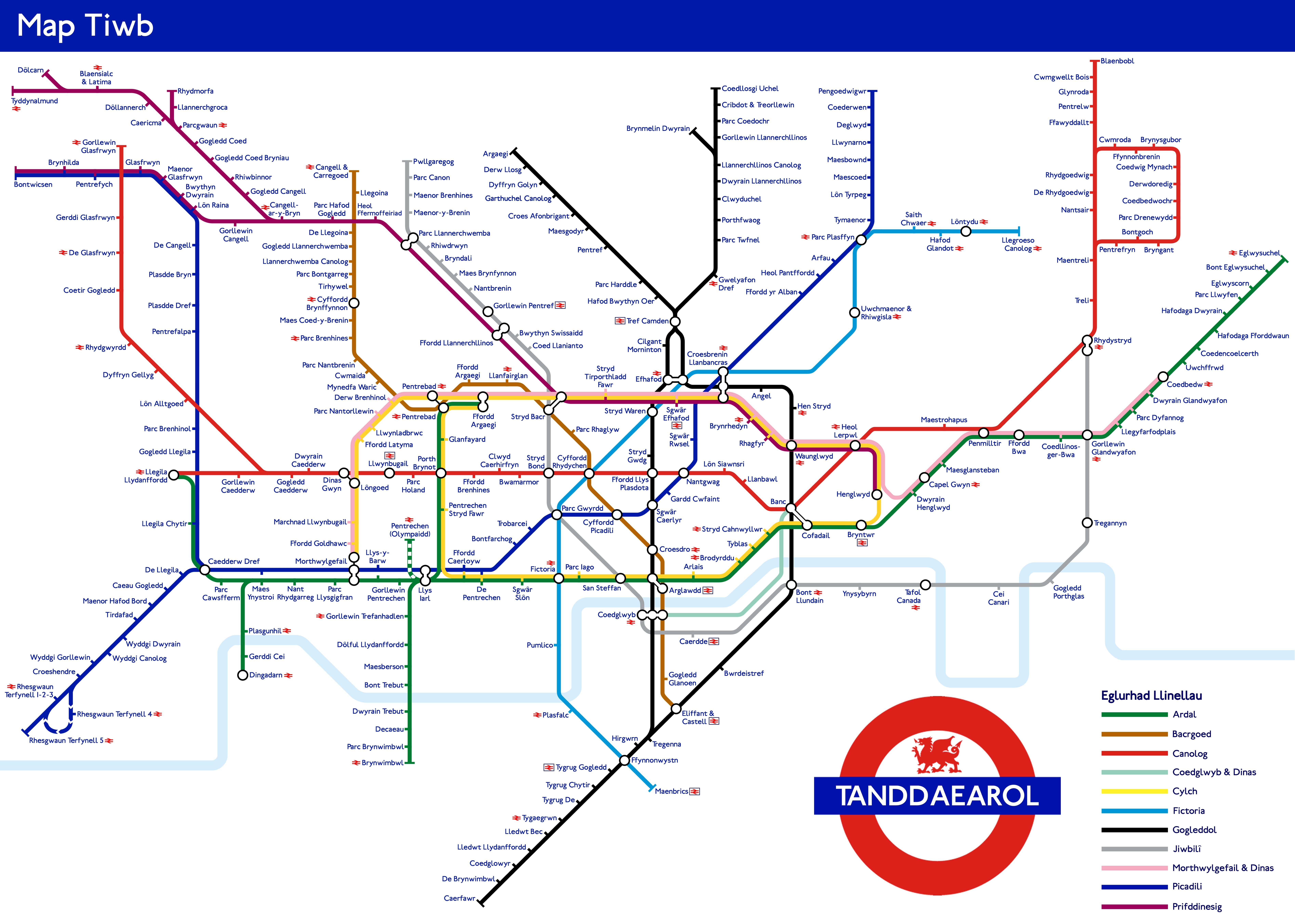 London Underground Subway Map.Just A London Underground Map Translated Into Welsh Londonist