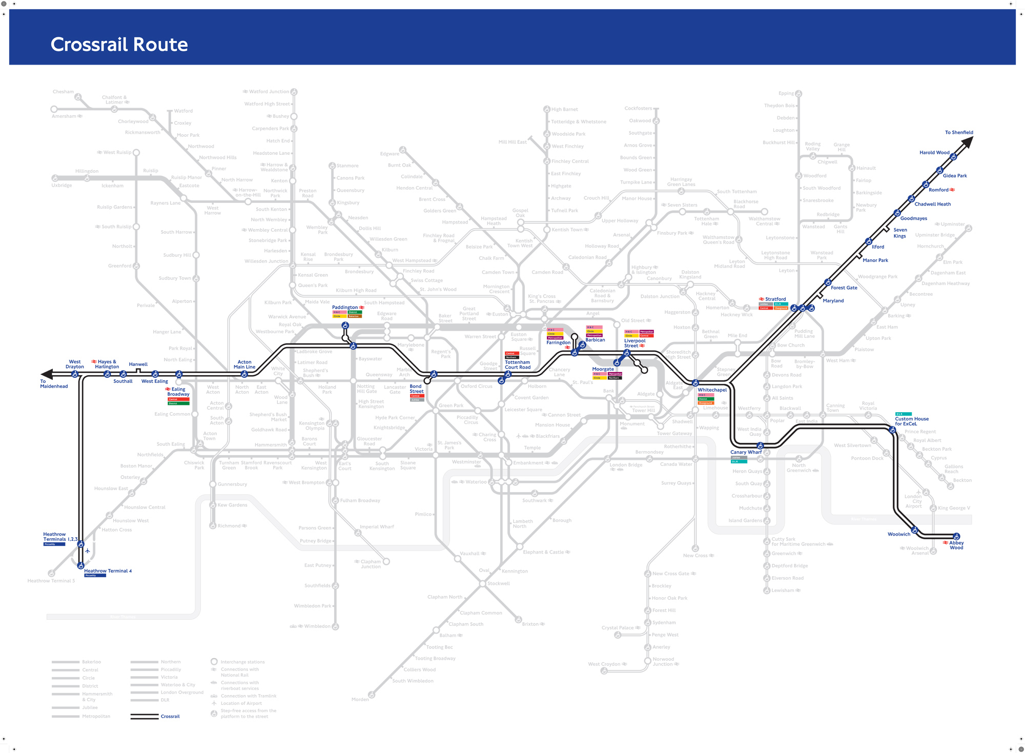 Tube Map With Crossrail Crossrail, As It May Appear On The Tube Map | Londonist Tube Map With Crossrail