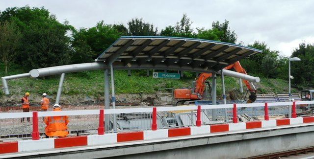 Mudchute DLR station rebuilding