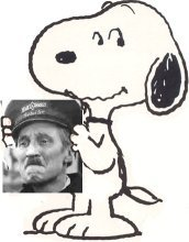 Snoopy and Blakey