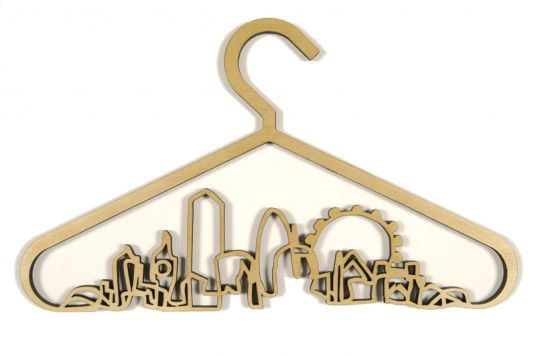 Santa's Lap: The Cityscape Coat Hanger