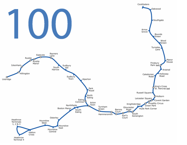 Piccadilly Line Hits 100