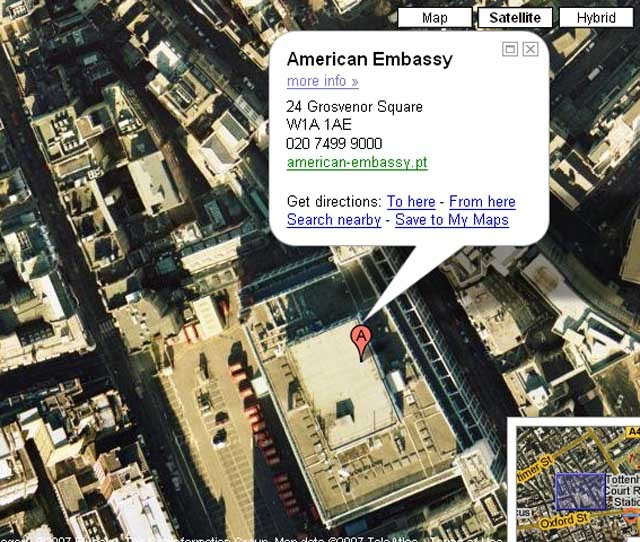 US Embassy At Rathbone Place Post Office?