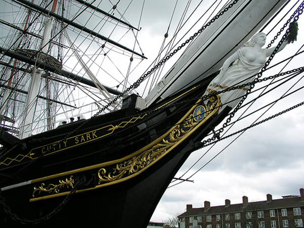 Cutty Sark Destroyed