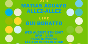 Gui Boratto At Plastic People Tonight
