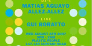 Gui Boratto At Plastic People Tonight