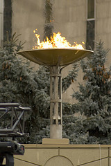 Olympic Torch At Olympic Site Causes Olympic Fire