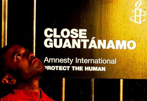 Amnesty International Recreate Guantanamo Bay in London