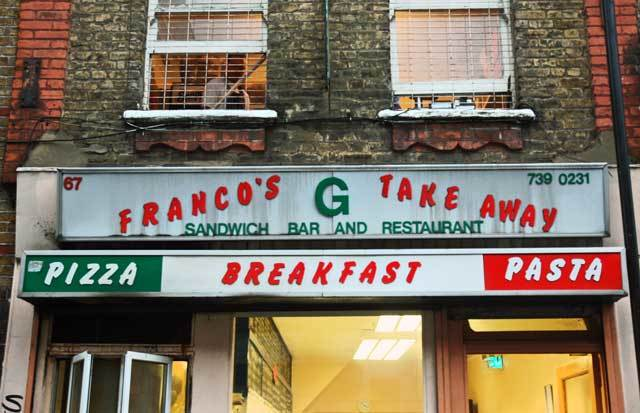 What's for Lunch?  Franco's Take Away
