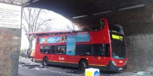 Kentish Town Bus Crashes Into Bridge