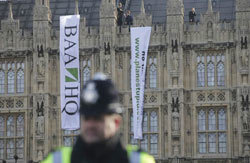 Protesters Scale Houses Of Parliament