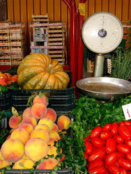 Fruit and vegetables at market