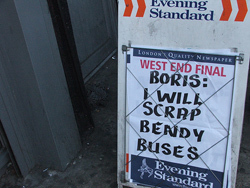 Mayoral Update: Boris Doesn't Have Enough Bus Fare