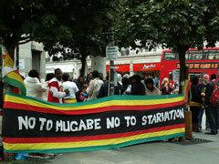 Protest outside Zimbabwe Embassy