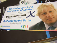 Vote Boris leaflet