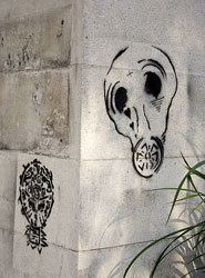 Gas mask graffito